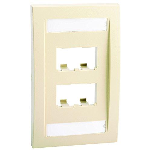 - Panduit CFPE4EIY 1-Gang 4-Port Faceplate, Electric Ivory
