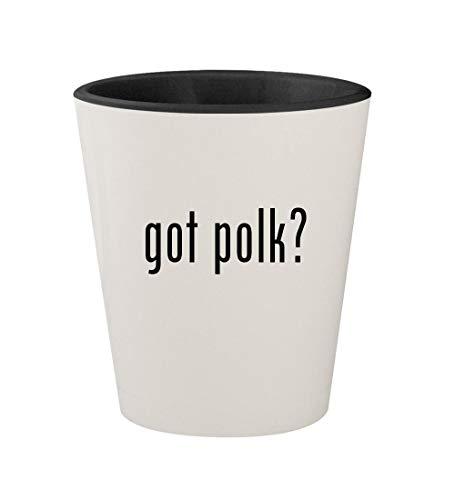 got polk? - Ceramic White Outer & Black Inner 1.5oz Shot Glass