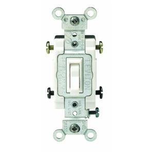 Leviton S02-CS415-2WS White Commercial Grade 4-Way AC Quiet Switch Toggle (4 Way Switch)