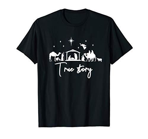 True Story Nativity Christmas Shirt Jesus Manger Holy Family