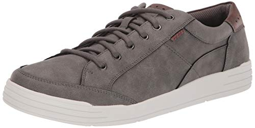 Nunn Bush Men's KORE City Walk Oxford Athletic Style Sneaker Lace Up Shoe, Charcoal, 10.5 W US