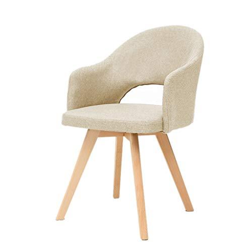 Yunyisujiao stol datorstol köksstol caféstol arbetsstol förhandla stolen massivt trä matstol sminkstol modern loungestol (färg: Blå, storlek: 48 x 46 x 78 cm)