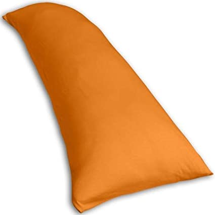 Traumreiter Coussin de positionnement lat/éral Visco-Dream en Gel avec taie doreiller Naturel R/églable Extra Large 140 x 50 cm Orange