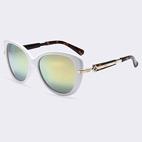 espejo de Lentes C02 estilo TIANLIANG04 marco Gafas verano de moda sombras de Gafas de oval mujer sol C02 de UV400 Anteojos de wpAcwqTa