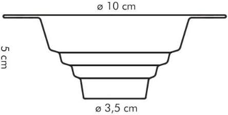 Tescoma Universaltrichter Kunststoff 10 x 5 x 3.5 cm Farblich Sortiert