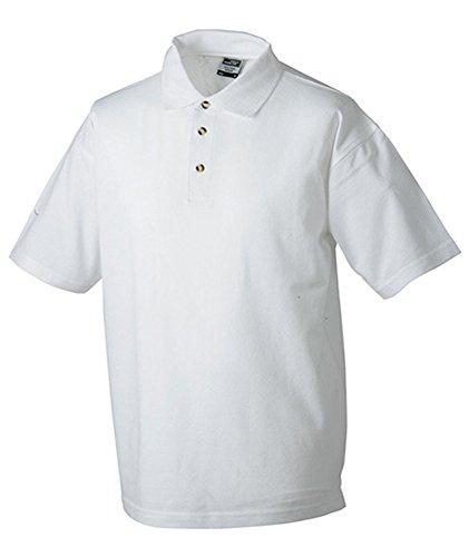 James & Nicholson - Polo-Pique-Medium - bis 5XL XXL,White