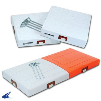 Champro 2 Quilted Bases with Double First Base (Orange/White) by CHAMPRO