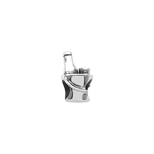 Persona Sterling Silver Chilled Champagne Charm fits European Charm Bracelets
