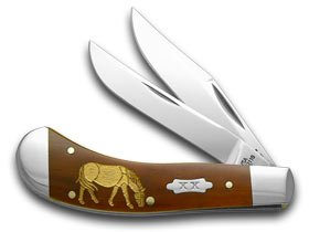 CASE XX Horse Smooth Chestnut Bone 1/500 Saddlehorn Pocket Knife Knives
