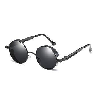 Yuson Girl Gafas De Sol Vintage Lentes Redondos Retro Metálico Gafas De Sol Polarizadas Steampunk Estilo Retro Con Protección Uv400 Cristales De Gafas ...