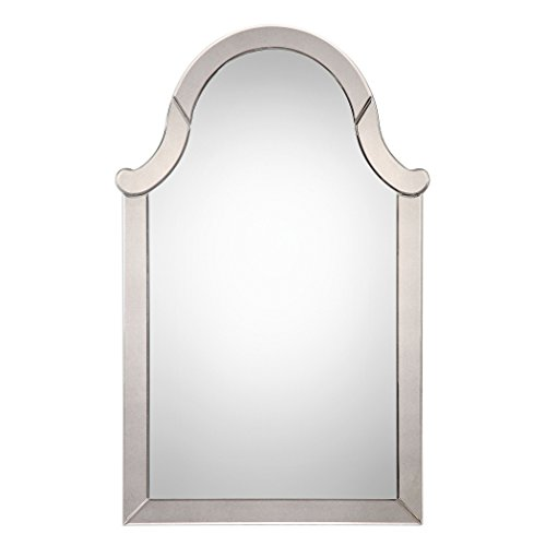 My Swanky Home Frameless Arch Venetian Wall Mirror | Vanity Glass Frame Shaped