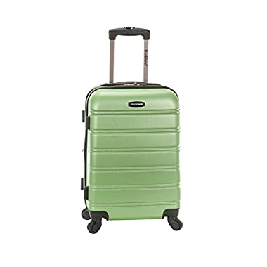 Rockland Melbourne 20  Expandable Abs Carry on, Green