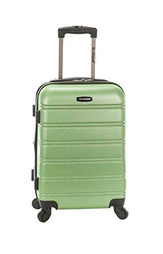 rockland-melbourne-20-expandable-abs-carry-on-green