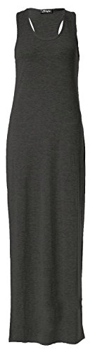 Forever Womens Plain Muscle Racer Back Sleeveless Maxi Dress - Forever 21 Maxi Dress