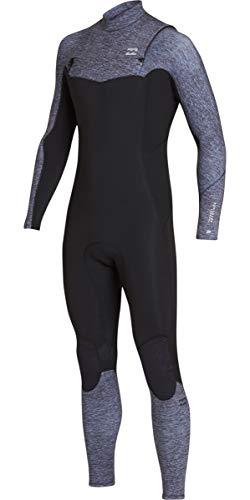 Billabong Mens 3/2mm Furnace Absolute Comp Chest Zip Wetsuit Grey Heather N43M07 Wetsuit Size - M