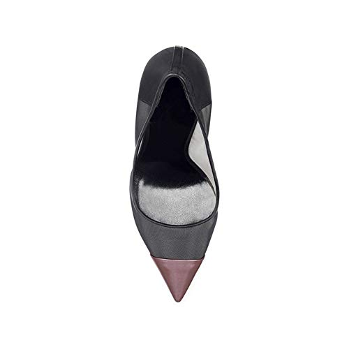 Des Maille Pointé La Navettage Pointe Talon Tampon Antidérapant Respirant Purple Pieds Étanche Stiletto Hauteur Élevé Bureau 12Cm Chaussures Femmes De Chaussures Du Simples x50wfqF0dX