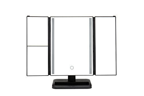 Cheap TopWigy Folding Lighted Makeup Mirrors with LED Light Bars and Touch Screen 1X/2X/3X USB 180° Adjustable Folding Illuminated Standing Cosmetic Makeup Mirror
