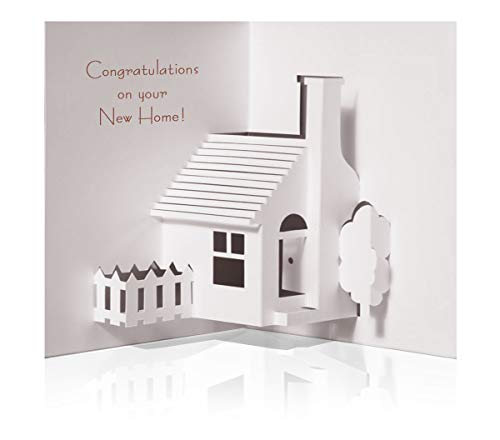 10 Pack Pop up House Warming Congratulations Card (A New Home For The Holidays Card)