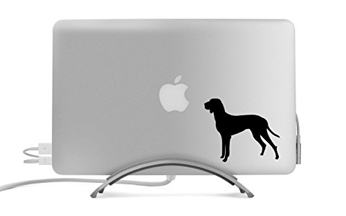 (Hungarian Shorthaired Pointer Dog Silhouette Five Inch Black Decal for Car, Truck, MacBook, Laptop, Etc.)