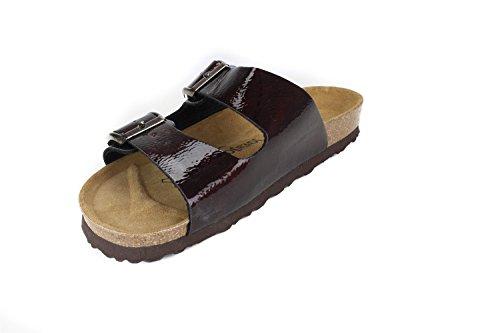 JOE N JOYCE London Synsoft Soft-Fußbett Sandalen Bordeaux Größe 41 Schmal