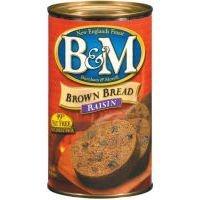 B&M Brown Bread with Raisins, 16 Oz. Can by MB Quart