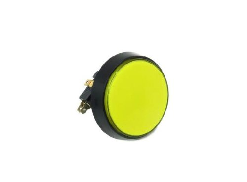 Phantom YoYo 60MM Large Circular Micro Switch Button Switch with Light Yellow the Reset