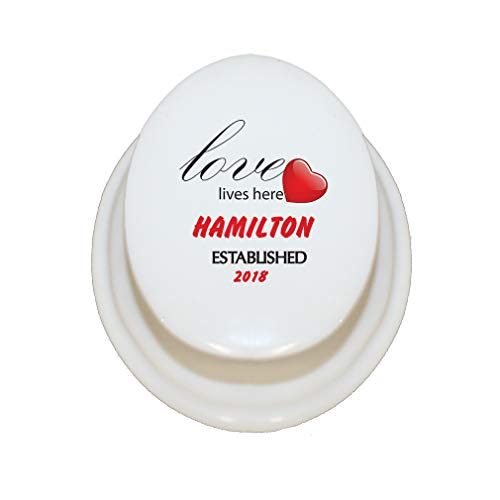 Style In Print Personalized Custom Text Home Loves Lives here. Hamilton Est Porcelain Treasure Box Porcelain Jewerly Box - - Porcelain Hamilton