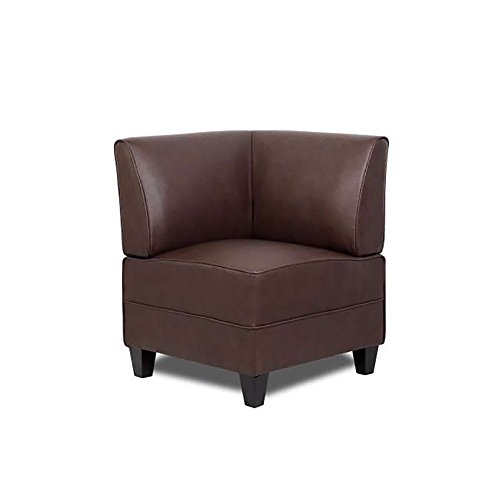 Boss Office Products BRS13C-BB Reception Sectional Corner Sofa in Bomber Brown