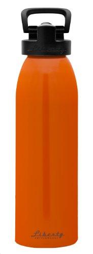 Liberty Bottleworks Straight Up Aluminum Water Bottle, Made in USA, 32oz, Ember, Sport - Ember Sport