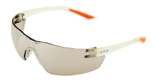 (Encon Nascar 442 Wraparound High Performance Safety Eyewear with Orange Tip, Indoor-Outdoor Lens, Clear Frame)