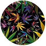 Price comparison product image Marijuana Weed Leaf Colorful Nature Computer Mouse Mat for Round Mouse Pad