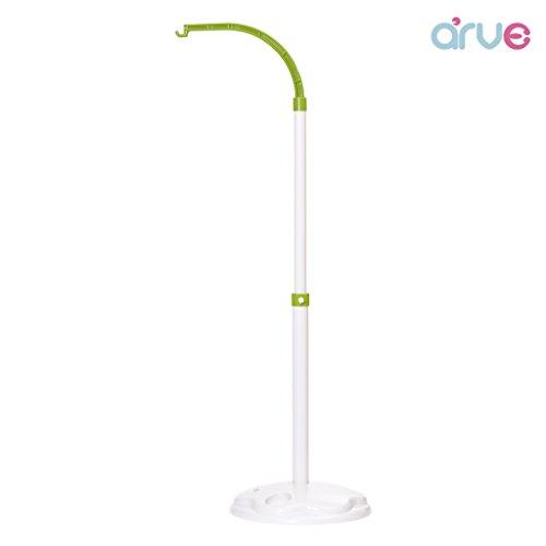 [arve] Baby Crib Mobile Bed Bell Holder Stand, Height Adjustment (Green) (Baby Mobile Holder)