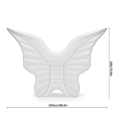 Famtasme PVC inflatable angel wings floating row, inflatable water entertainment toys