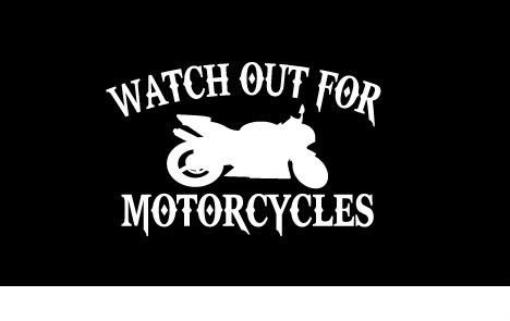 Watch Out For Motorcycles Street Bike CBR Vinyl Decal Sticker CUSTOM