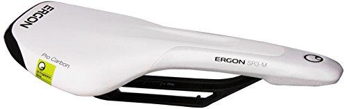 Monolink Carbon - Ergon SR3 Pro Carbon Monolink Saddles, White, Medium