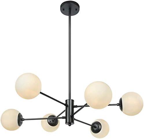 Lampundit Mid Century Modern 6 Light Chandelier