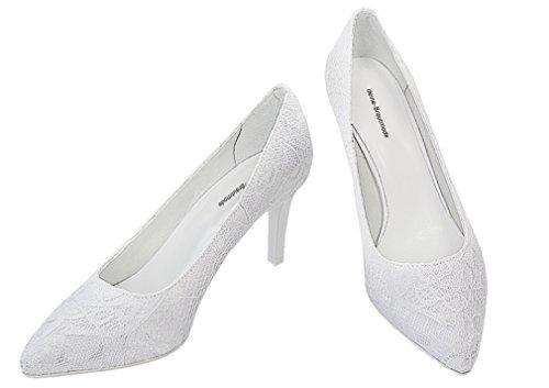 Blanc mariage mariage dentelle mariée Pumps Chaussures chaussures chaussures de n8xpgwzEqZ