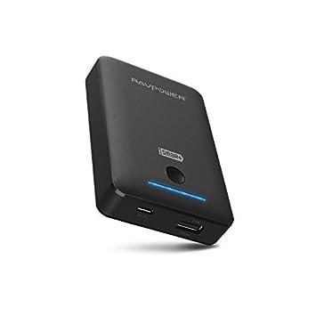 RAVPower® Batería Externa Portátil 7800mAh, Cargador Power Bank con Tecnología iSmart Para iPhone iPad Samsung Android - Negro