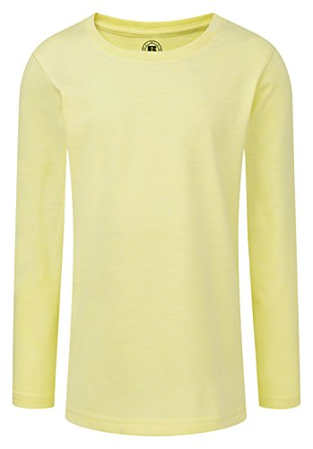 (Russell Childrens/Girls Long Sleeve HD T-Shirt (5-6 Years) (Yellow Marl) )