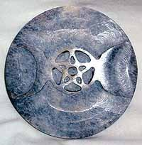 Triple Goddess Altar (Carved Soapstone Triple Moon Meditation Altar Tile Stone Colors Will Vary Random Selection)