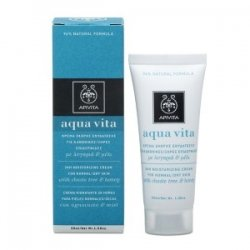 Apivita - Aqua Vita 24H Moisturizing Cream (For Normal/Dry Skin) -50ml/1.76oz Creamy Brightening Cleanser - 7 fl. oz. by Mineral Fusion (pack of 2)