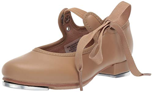 Eyelets 12 Piece (Bloch Dance Girl's Annie Tyette Tap Shoe Dance, Brown Tan, 12 Wide US)