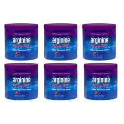 Arginine Infusion Natural Formula for Cardio Health 6 Jars 5000mg L-arginine, 1000mg L-citrulline, 50mg CoQ10, & 50 mg AstraGin Per Serving (Best Arginine Supplement For Ed)