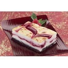 Sweet Street Raspberry Swirl Brulee Cheesecake Bar -- 4 per case.
