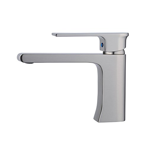 Beelee bathroom faucet for undermounted vanity sink,single handle,one hole,Brushed nickel