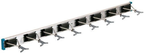 Crawford-Lehigh 36360-6 Ultra Hold Eight-Hook Tool Rack, 36 by 5-Inch (Shovel Rack Wall)