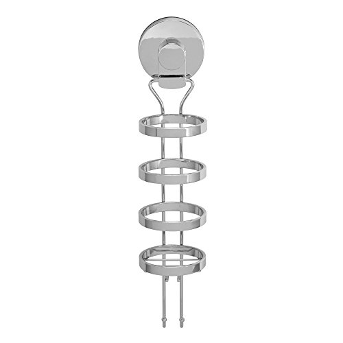 Everloc Solutions Chrome Suction Cup Wall Mount Curling Iron Holder