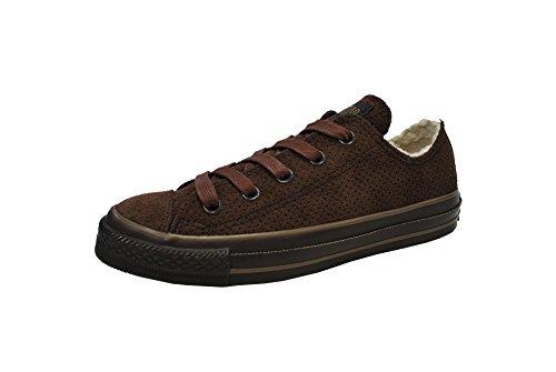 Converse Menns Sko All Star Skinn Lav Sjokolade Brun Sneaker