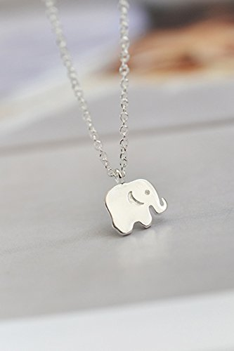 Generic S925 silver necklace Thai Elephant cartoon animal cute little elephant necklace pendant necklace clavicle chain gift by Generic