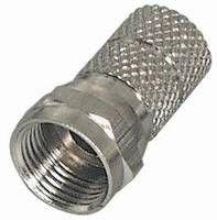 MANAX/® Spina F Lunghezza 20 mm Versione zigrinata nichelata per Cavo /Ø 4,0 mm 10 Pezzi